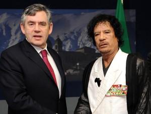Italy G8 Summit Britain  Libya